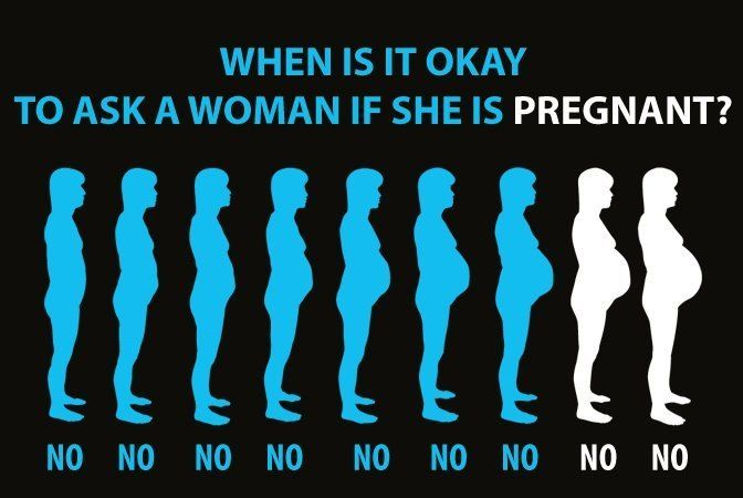 How do you know when it's okay to ask a woman if she's pregnant  The Champagne Supernova