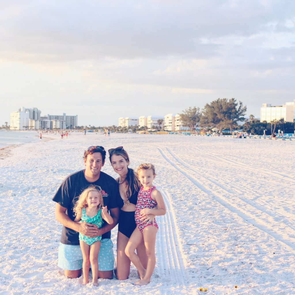 Me and my tribe on St. Pete Beach.