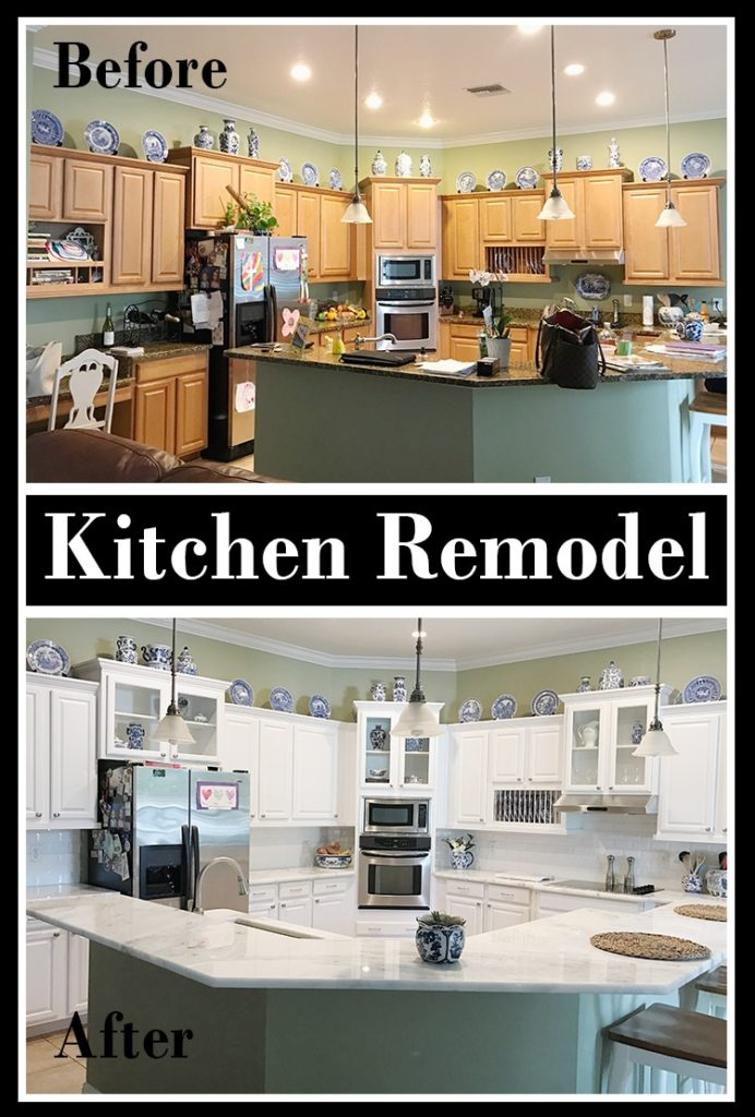 White kitchen remodel with before and after photos | The Champagne Supernova