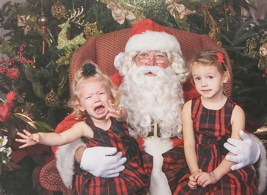 Funny Santa Pictures at the Junior League of Tampa Holiday Gift Market 2017 | The Champagne Supernova