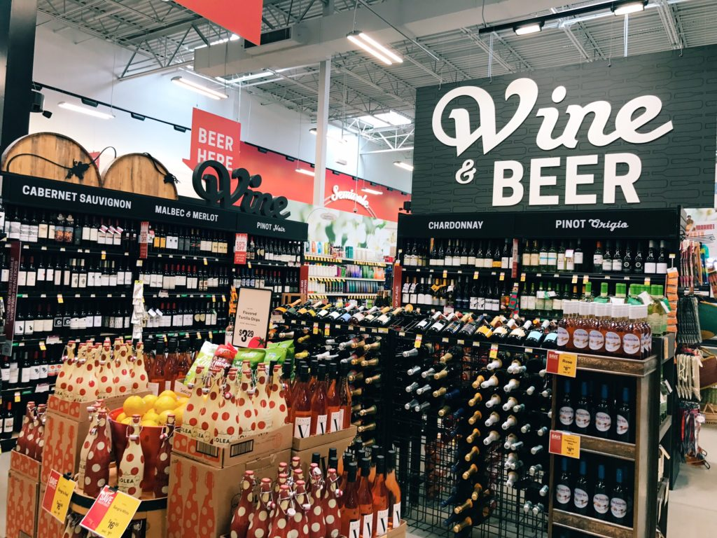 The wine section at Earth Fare grocery store | The Champagne Supernova