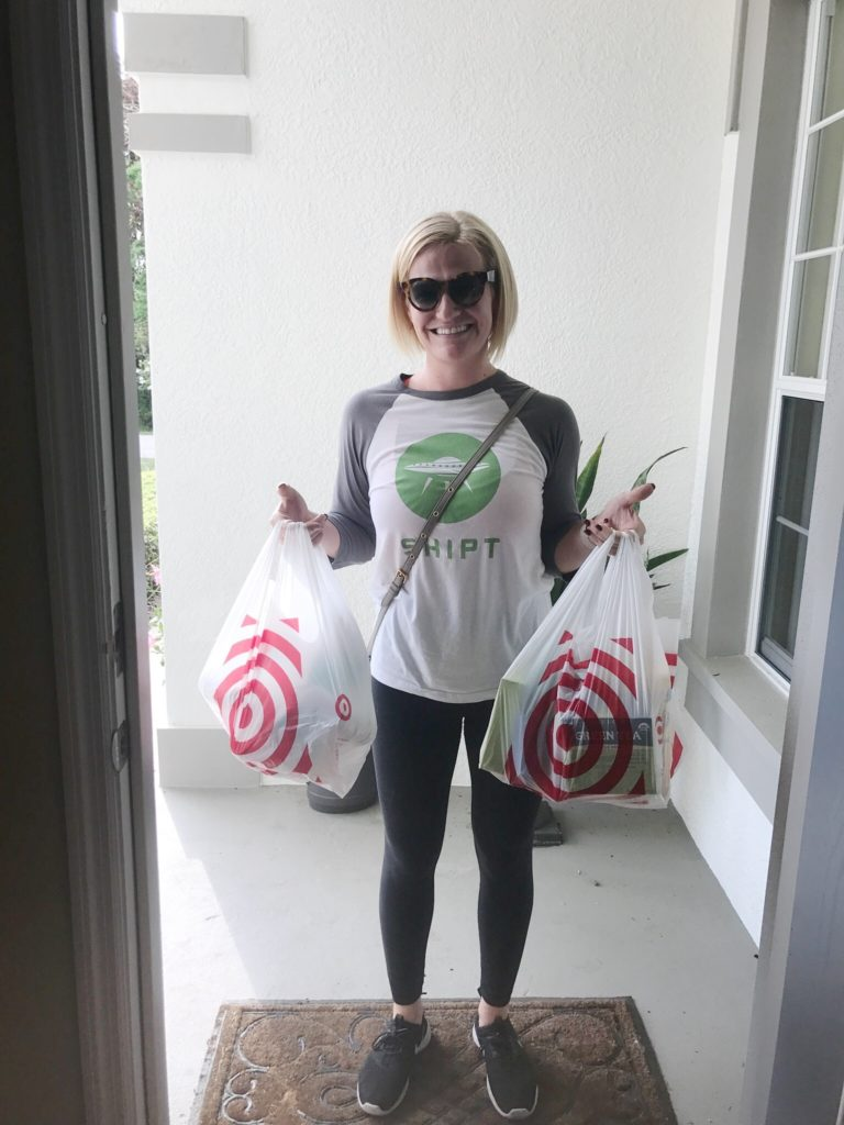 Shipt shopper delivering goodies from Target in Tampa | The Champagne Supernova
