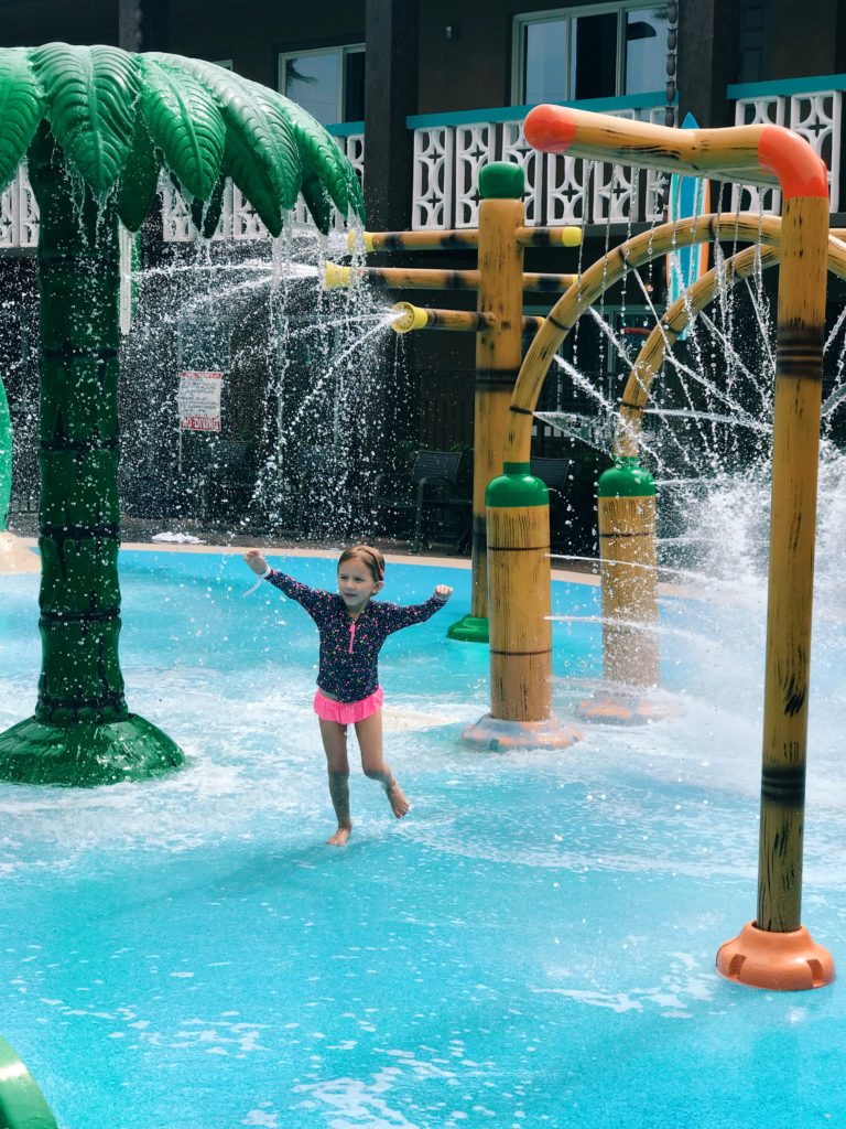 The splash pad at a hotel in cocoa beach | The Champagne Supernova